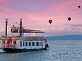 Steamboat And Hot Air Balloons