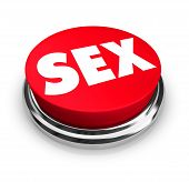 stock photo of perversion  - A red button with the word Sex on it - JPG