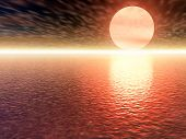 Red 3D Sunset
