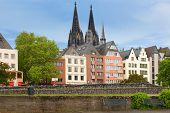 Buildings Along An Embankment In Cologne