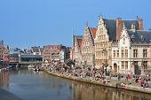 Graslei In Ghent In The Summer Day