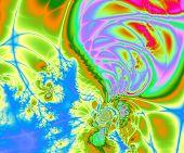 Bright fractal background