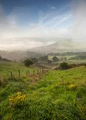 misty yorkshire valley in autumn