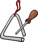 Triangle Percussion Clip Art Cartoon Illustration