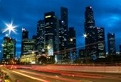 Singapore City Skyline Traffic