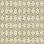 Ecru Diamond Shape Fabric Background