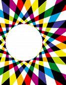 Rainbow Spirograph Background