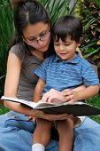 Young Mother And Son Reading