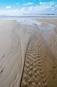 Water ripples on a beach