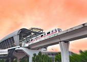 Suburban railway viaduct