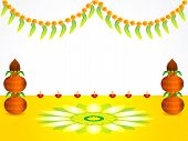 pic of navratri  - abstract artistic detailed celebration background vector illustration - JPG