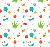 Jewish Holiday Purim Pattern. Vector Illustration