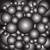 stock photo of cannon-ball  - A collection of metal ball bearings as a background - JPG