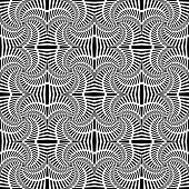 Design Seamless Uncolored Swirl Movement Pattern. Abstract Decorative Striped Textured Background