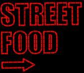 Neon Street Food Sign