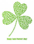 vector shamrock made of small shamrocks