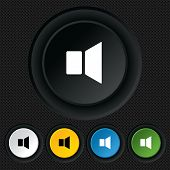 Speaker volume sign icon. Sound symbol.