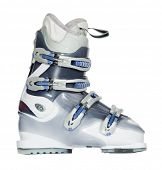 stock photo of ski boots  - Ski boots isolated on white background - JPG