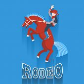 Rodeo Poster.cowboy On Horse With Text