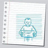 pic of mug shot  - Mug shot criminal man - JPG
