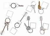 Collection Of Keys On Ring With Blank Keychain