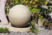 stone bowl in the garden