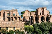 stock photo of reign  - House of Augustus is the first major site upon entering the Palatine Hill in Rome - JPG