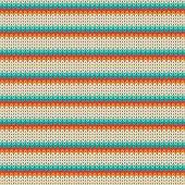 Seamless Striped knitting pattern