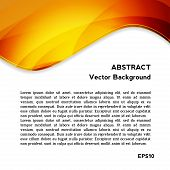 Frame for text with orange Abstract Background