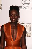 LOS ANGELES - FEB 22:  Lupita Nyong'o at the 45th NAACP Image Awards Arrivals at Pasadena Civic Audi