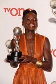 LOS ANGELES - FEB 22:  Lupita Nyong'o at the 45th NAACP Image Awards Press Room at Pasadena Civic Au