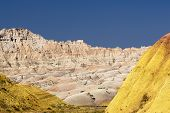 Colorful hills of the Badlands National Park, South Dakota, USA