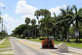 Welcome Sign Of Royal Palm Isles