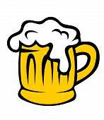 Cartoon tankard of frothy beer
