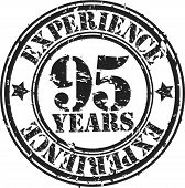 Grunge 95 years of experience rubber stamp, vector illustration