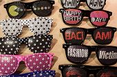 Funny Glasses On Display At Mipap Trade Show In Milan, Italy