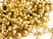 picture of gold glitter  - Closeup photo of the golden christmas decoration - JPG