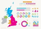 stock photo of adoration  - UK infographic with map - JPG