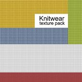 picture of knitwear  - Knitwear vector texture set - JPG