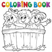 Coloring book children theme 1 - eps10 vector illustration.