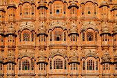 Hawa Mahal,  Palace of Winds at Jaipur, Rajasthan, India