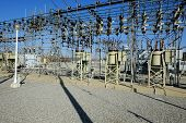 foto of substation  - A California electrical substation provides power to a city - JPG