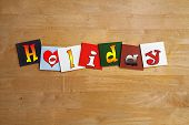 Love Holidays, Sign Series For Holiday Destinations And Resorts.
