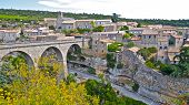 Bridge over the River Cesse to the ancient village of Minerve in southern France