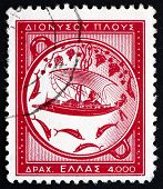 Postage Stamp Greece 1955 Voyage Of Dionysus