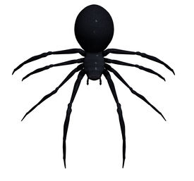 stock photo of black widow spider  - 3d Black widow spider on a white  background - JPG