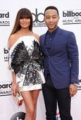 LAS VEGAS - MAY 18:  John Legend & Christine Teigen arrives to the Billboard Music Awards 2014  on M