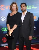 LOS ANGELES - JUL 17:  Janet McTeer & Kal Penn arrives to the CBS-CW-Showtime Summer TCA Press Tour