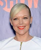 LOS ANGELES - JUL 17:  Emily Bergl arrives to the CBS-CW-Showtime Summer TCA Press Tour 2014  on July7, 2014 in West Hollywood, CA.