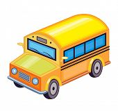 schoolbus isolated on white background (vector illustration)